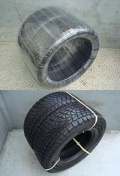 タイヤストレッチ梱包